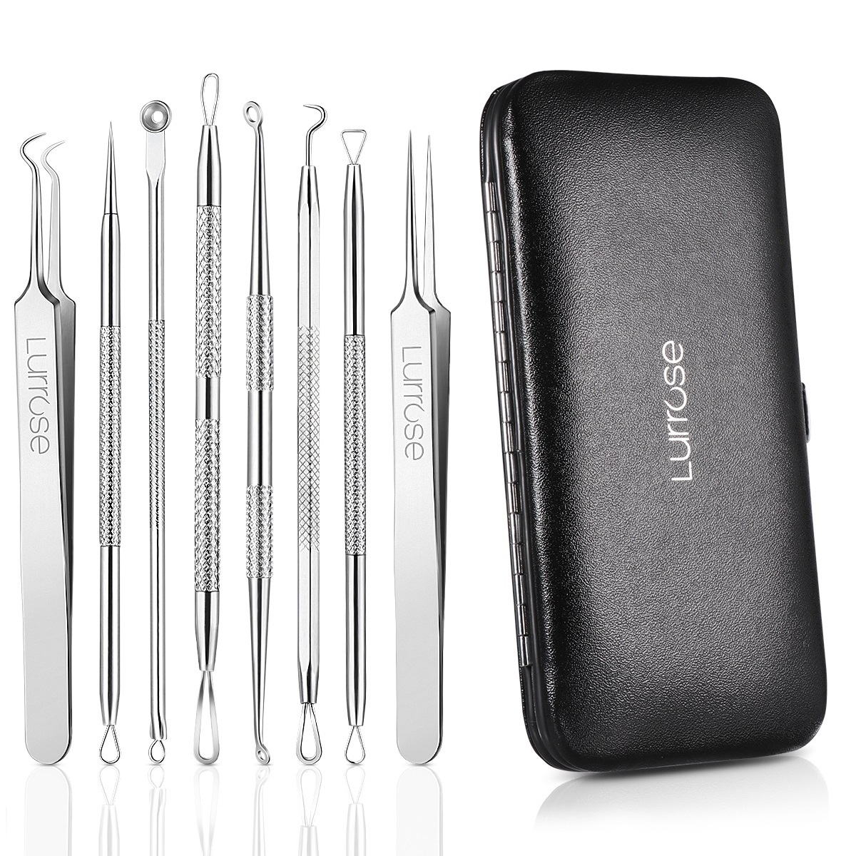 Blackhead Remover Tool, 8 Pcs Pimple Comedone Extractor Popper Tool Acne Removal Kit